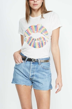 Lauren Moshi Vintage Rainbowlip Tee - Alternate List Image