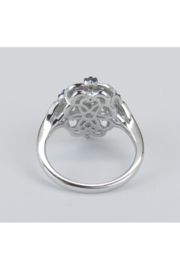 Margolin & Co Vintage Reproduction Style White Gold Diamond and Tanzanite Cocktail Cluster Ring Size 6.75 FREE Sizing - Other