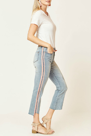 Velvet Heart Vintage Rose Stripe  Cropped Jean - Product Mini Image