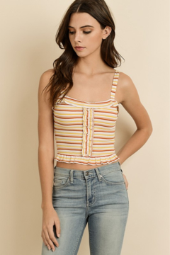 Shoptiques Product: Vintage Stripe Sleeveless Top