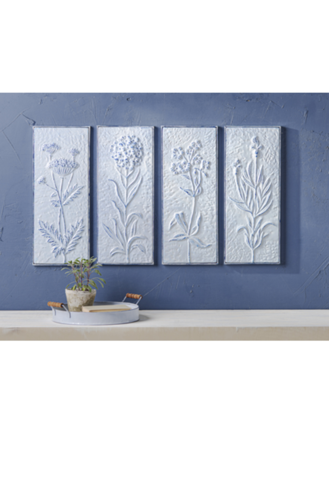 Ganz Vintage Style Embossed Floral Wall Decor - Front Full Image