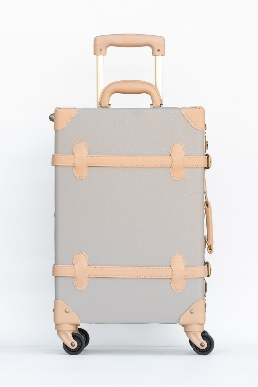 Deux Peches Vintage Style Luggage - Side Cropped Image