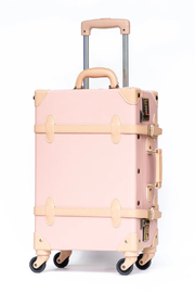 Deux Peches Vintage Style Luggage - Valise - Front full body
