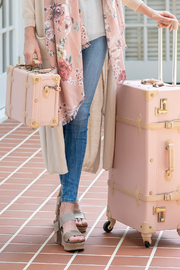 Deux Peches Vintage Style Luggage - Valise - Side cropped