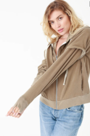 Electric Rose Vintage Terry Hoodie - Front full body
