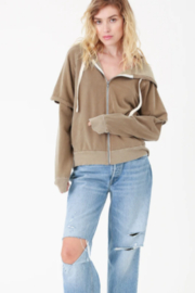 Electric Rose Vintage Terry Hoodie - Front cropped