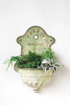 Creative Co-Op Vintage Vibe Faux Water Fountain Planter - Alternate List Image