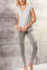 Charlie Paige Vintage-Wash Motto Leggings - Product Mini Image
