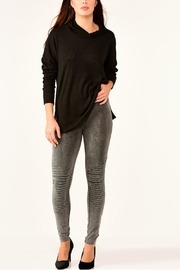 Charlie Paige Vintage-Wash Motto Leggings - Front cropped