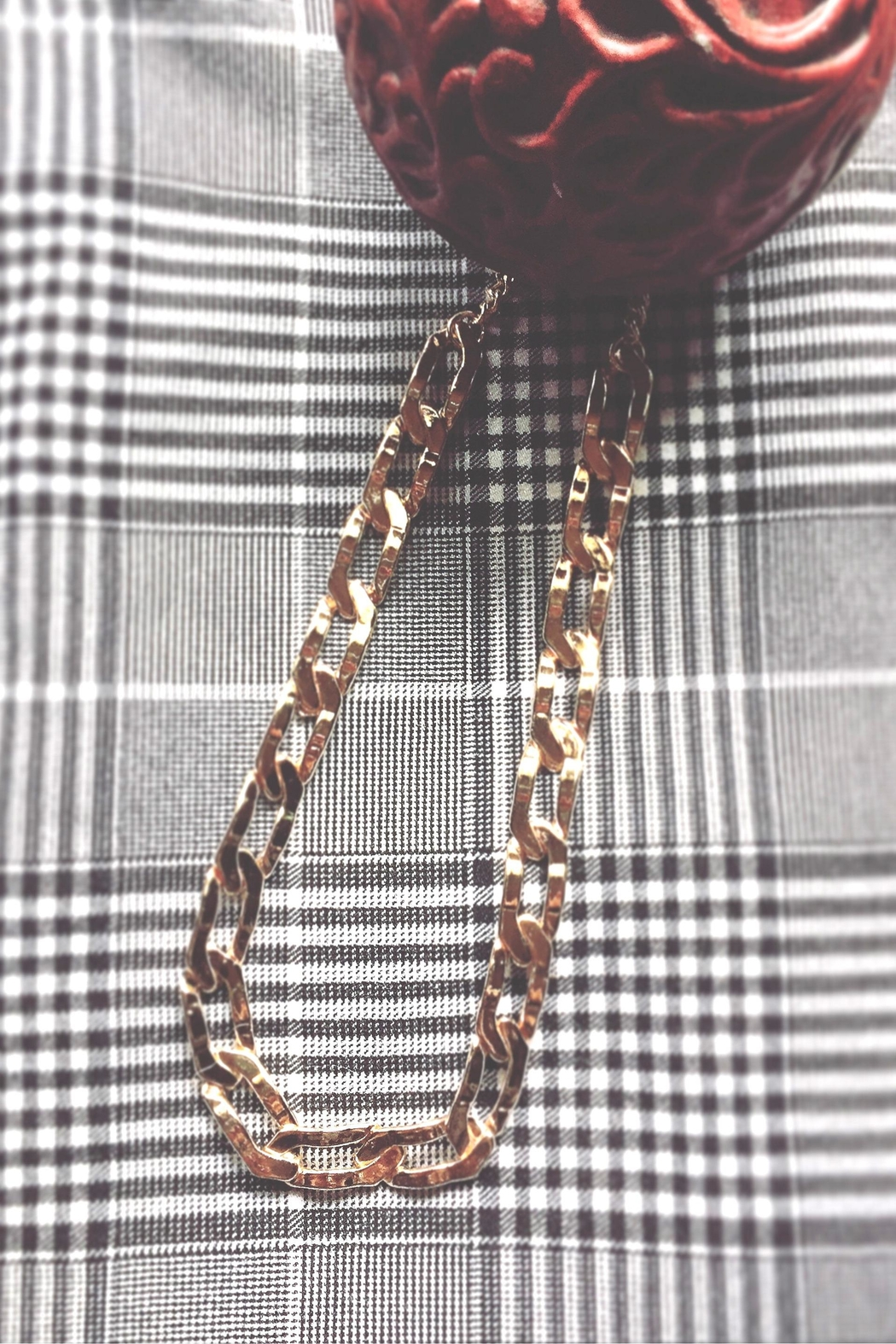 Vintage Brand Chain Link Necklace - Main Image