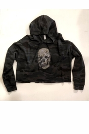 Vintage Brand Cropped Camo Skull Hoodie - Product Mini Image