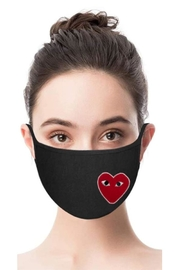 Vintage Brand Heart Facemask - Front full body