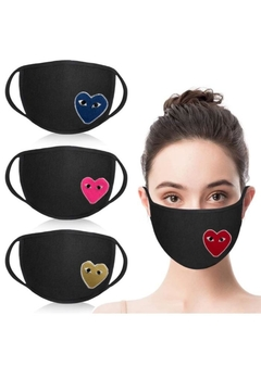 Vintage Brand Heart Facemask - Product List Image
