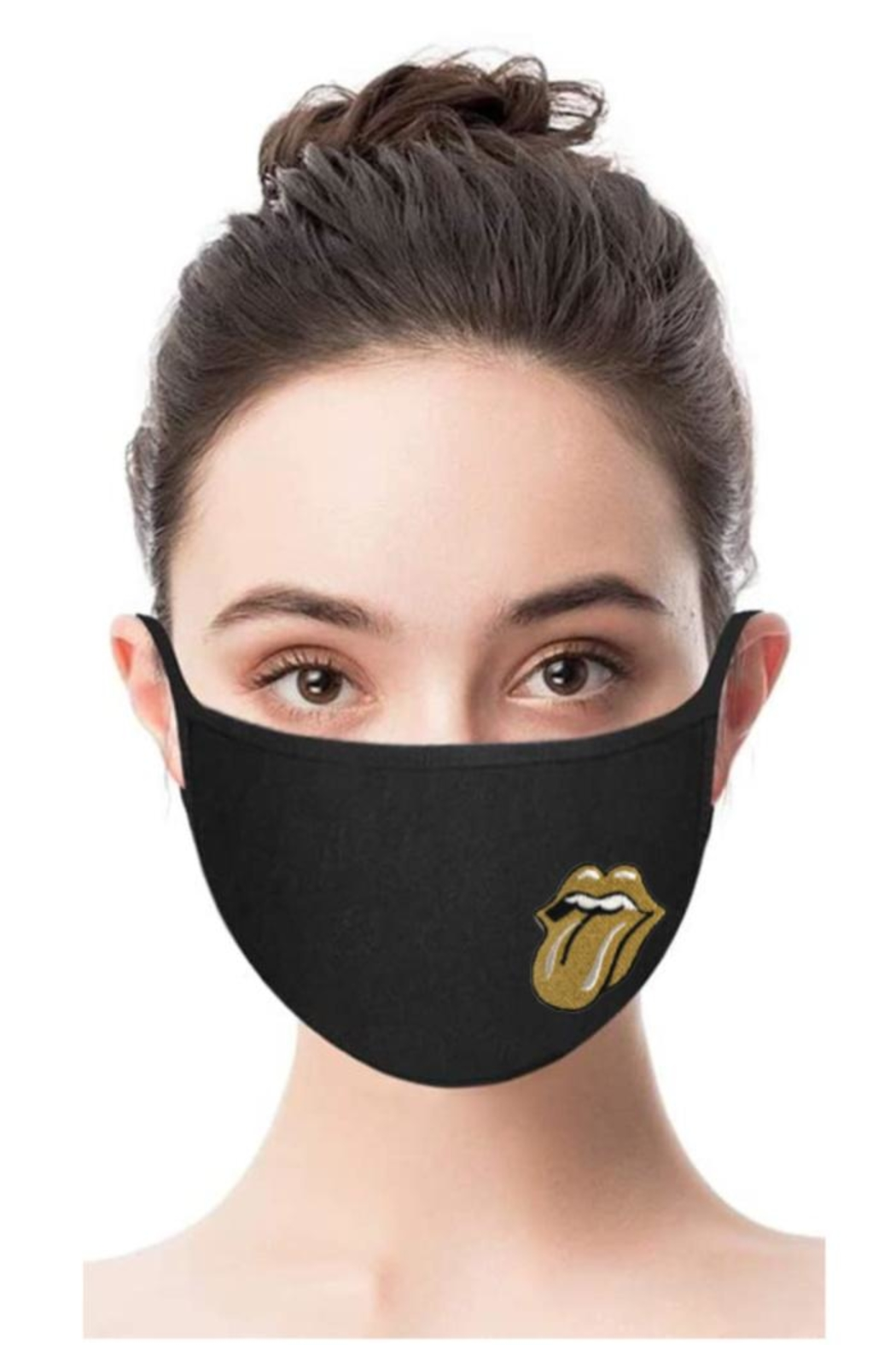 Vintage Brand Rock & Roll Facemask - Front Cropped Image