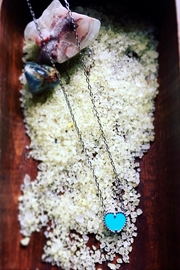 Vintage Brand Turquoise Heart Necklace - Product Mini Image