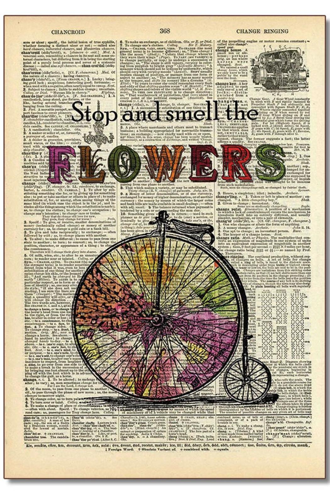 Vintage Dictionary Art Dictionary Art Flowers from ...