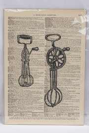 Vintage Dictionary Art Egg Beater - Product Mini Image