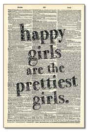 Vintage Dictionary Art Happy Girls - Product Mini Image