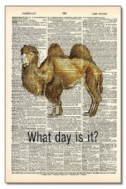 Vintage Dictionary Art What Day Art - Front cropped