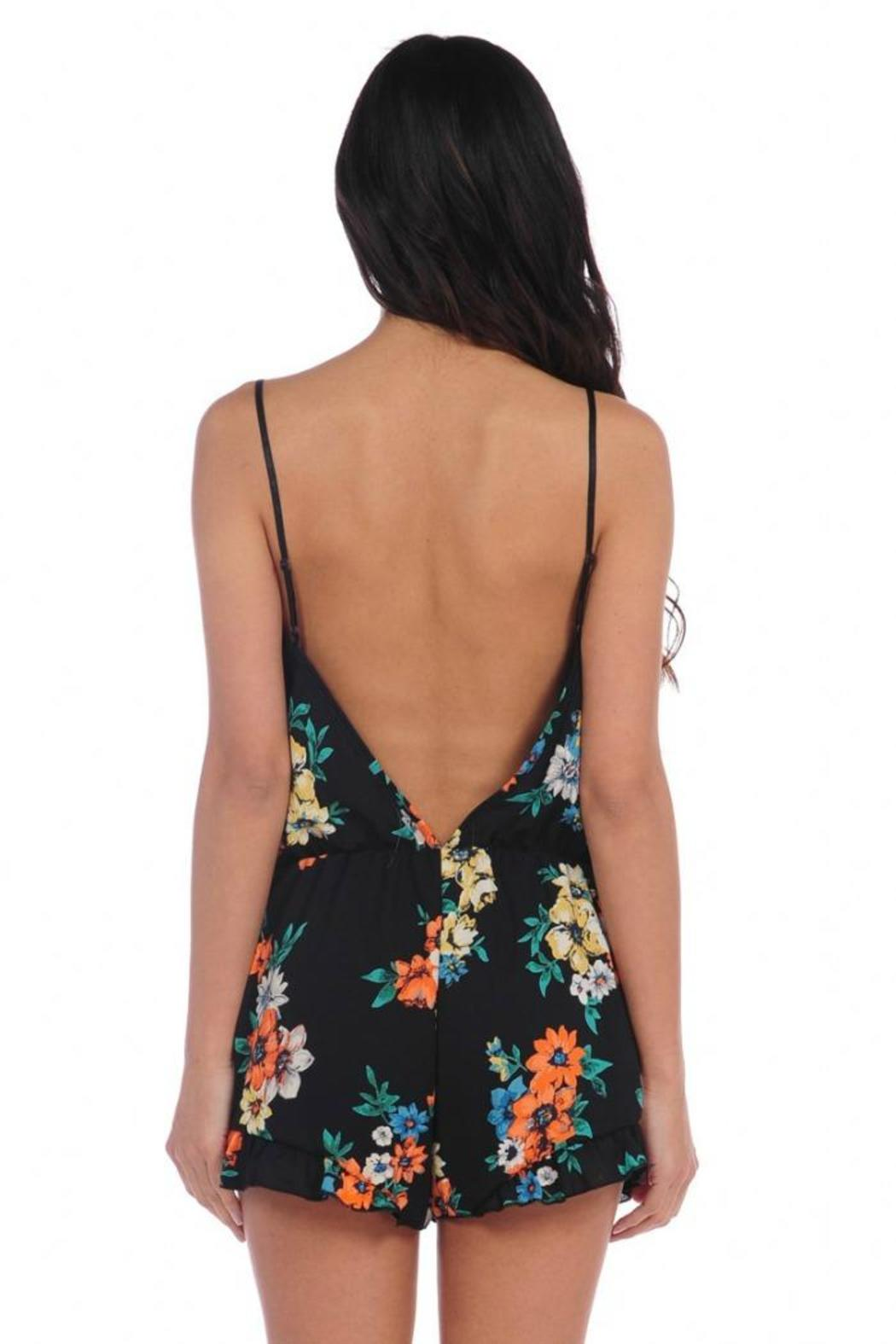 e616e490a2c2 Vintage Havana Backless Floral Romper from Long Island by InMotion ...
