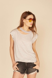 Vintage Havana Cutout Muscle Tank - Front cropped