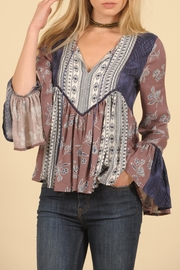 Vintage Havana Dusty Mauve Top - Product Mini Image