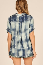 Vintage Havana Faded Plaid Front-Tie - Side cropped