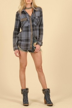 Shoptiques Product: Flannel Studded Top