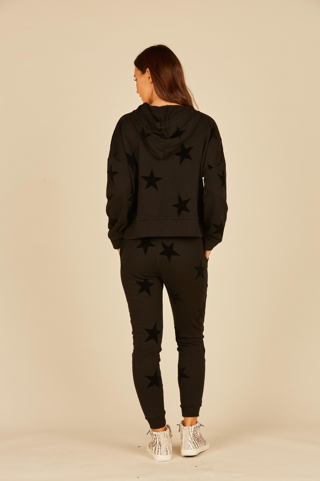 Vintage Havana French Terry Star Hoodie - Front Full Image