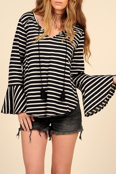 Shoptiques Product: Front-Tie Bell-Sleeve Top