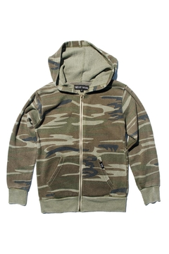 Shoptiques Product: Green Camo Hoodie