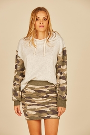 Vintage Havana Hooded Sweatshirt W/ Camo Sleeve - Product Mini Image