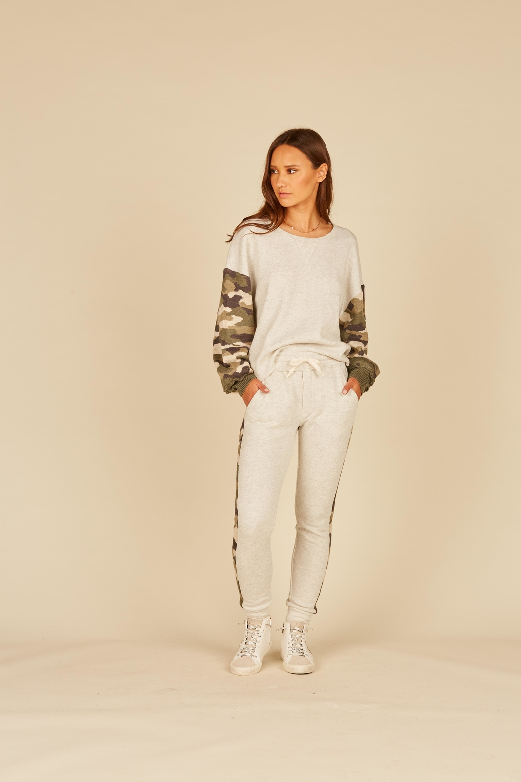 Vintage Havana Jogger With Camo Inset - Front Full Image