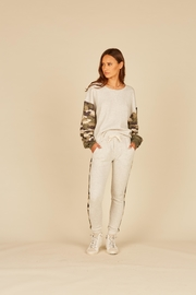 Vintage Havana Jogger With Camo Inset - Front full body