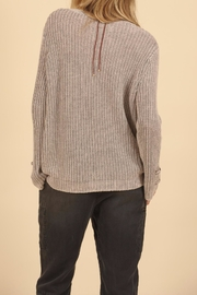 Vintage Havana Lace Up Cotton Sweater - Side cropped