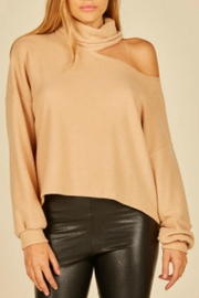 Vintage Havana Latte Turtleneck Sweater - Product Mini Image