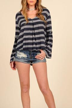Shoptiques Product: Nautical Bell Sleeve Top