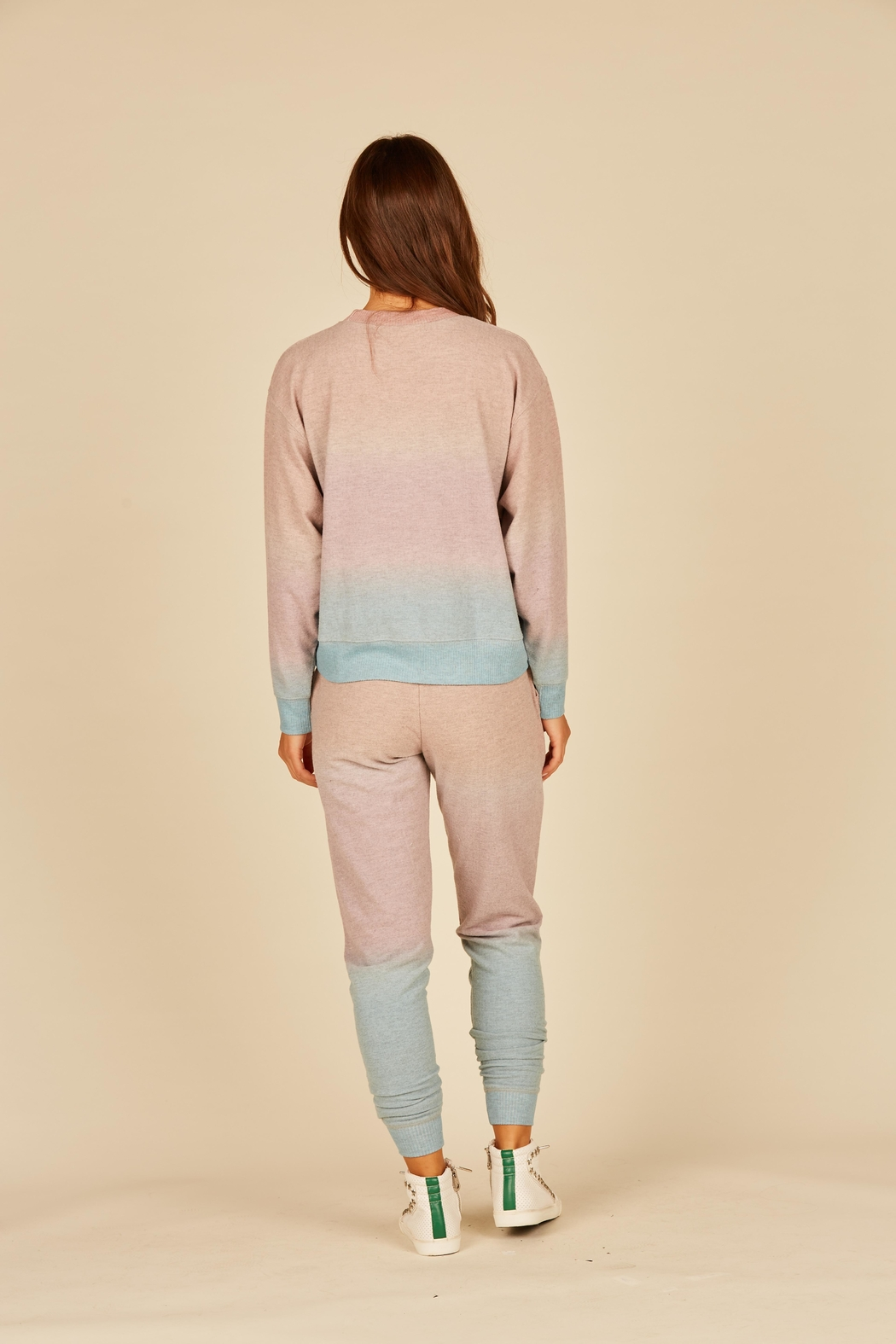 Vintage Havana Ombre Hacci Jogger - Front Full Image