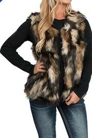 Vintage Havana Reversable Fur Vest - Product Mini Image