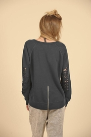 Vintage Havana Ripped Sweatshirt - Front full body