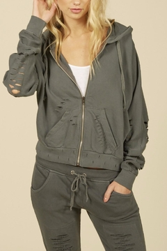 Shoptiques Product: Ripped  Zip Hoody
