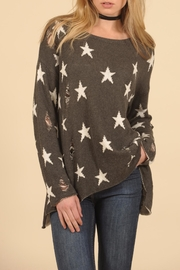 Vintage Havana Star Ripped Sweater - Product Mini Image
