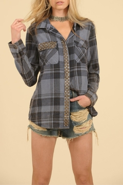 Shoptiques Product: Studded Flannel Top