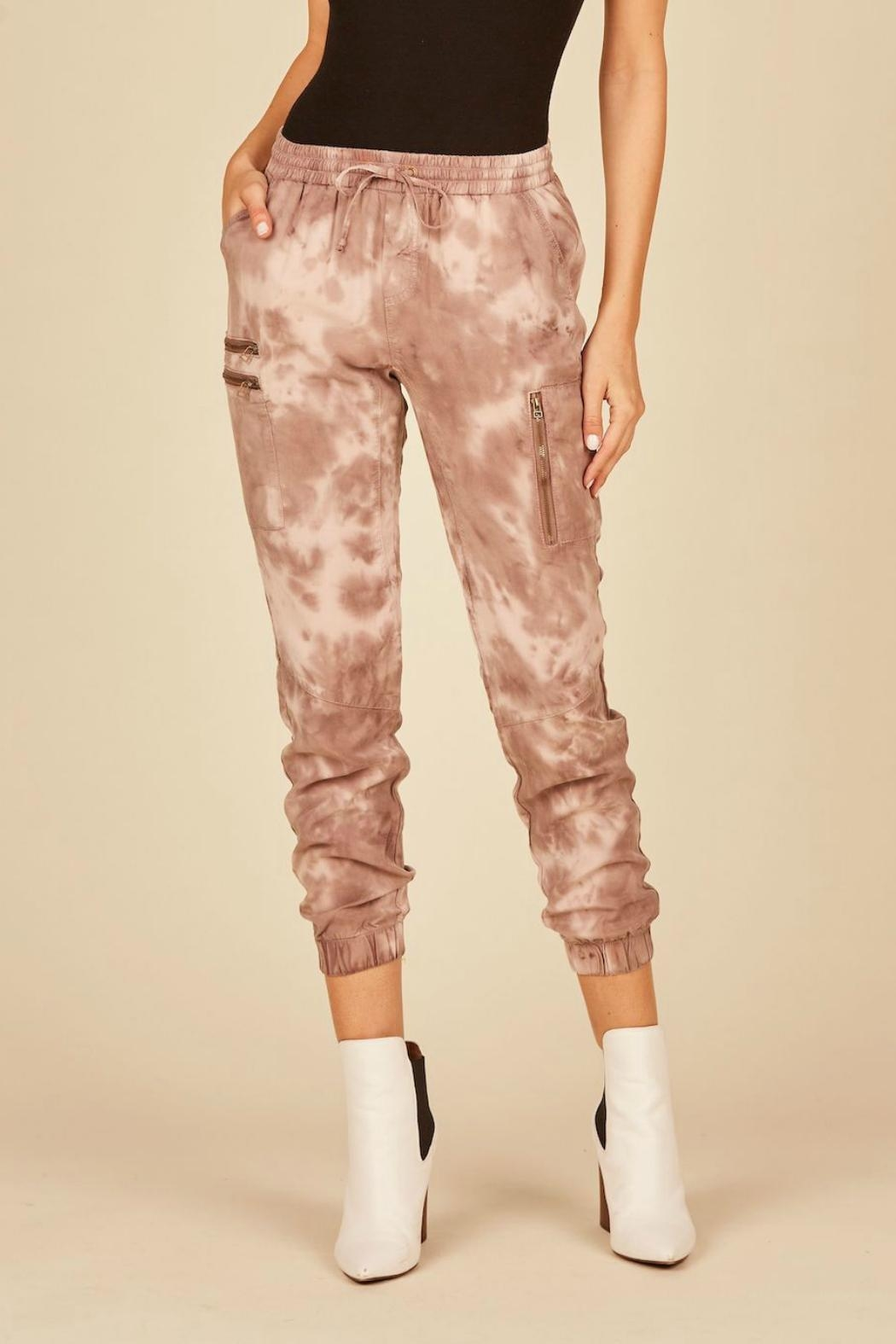 Vintage Havana Tie-Dye Cargo Joggers - Front Cropped Image