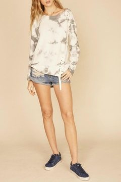 Shoptiques Product: Tie-Dye Lace-Up Sweater