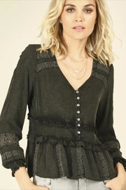Vintage Havana Washed Black Ruffle-Top - Product Mini Image