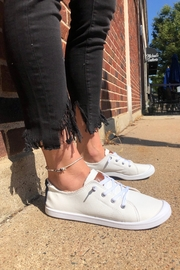 Vintage Havana White Slip-On Sneakers - Front cropped