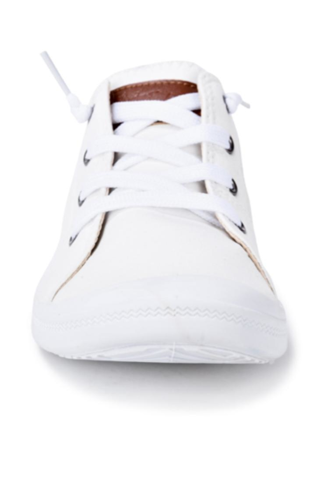 Vintage Havana White Slip-On Sneakers - Side Cropped Image