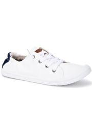 Vintage Havana White Slip-On Sneakers - Front full body