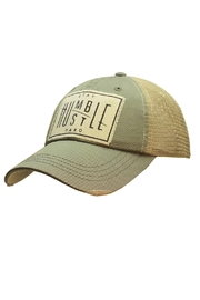 Vintage Life  Stay Humble Hustle Hard Hat - Front cropped